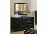 Danielle Dresser with Mirror in Dark Brown / Cappuccino - Coaster - 201263-64-SET
