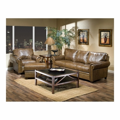 Danville Leather Sofa, Chair and Ottoman - Largo - LARGO-WG-L3550-SET