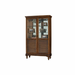 Darby Display Cabinet with 6 Drawers - Howard Miller