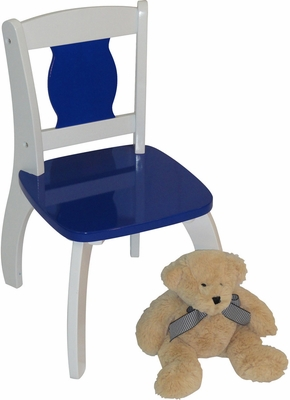 Dark Blue Kids Bow Leg Chair