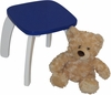 Dark Blue Kids Bow Leg Stool