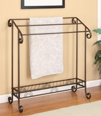 Dark Bronze Metal Towel Rack - 900833