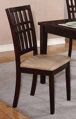 Dark Cherry Side Chair - Set of 2 - 103342