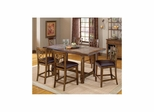 Dark Chestnut Villagio 7-Piece Counter Dining Set - Hillsdale