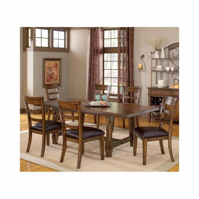 Dark Chestnut Villagio 7-Piece Dining Set - Hillsdale