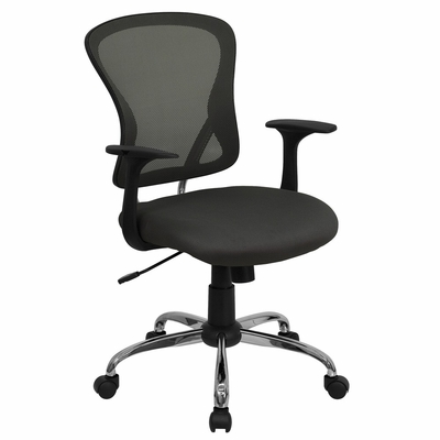 Dark Gray Mesh Executive Office Chair - H-8369F-DK-GY-GG