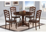 Davis 5 Piece Round Table Set in Warm Oak - 103911