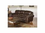 Dawson Dark Walnut Leather Sofa - Largo - LARGO-ST-F2455-401