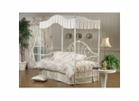 Daybed - Bristol Metal Canopy Daybed in White
