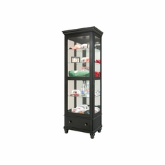 Dayton Curio Cabinet in Antique Black - Howard Miller