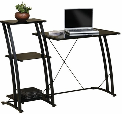 Deco Tiered Desk Black / Black - Sauder Furniture - 408687