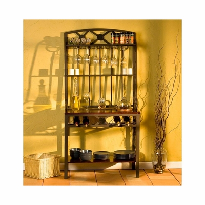 Decorative Bakers Rack with Wine Storage - Holly and Martin