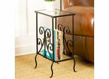 Decorative Metal Magazine Table - Holly and Martin