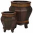 Decorative Wood Panel Planters (Set of 2) - Nearly Natural - 0520