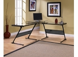 Delano Glass L-Shaped Desk - Z-Line Designs - ZL1429-1DU