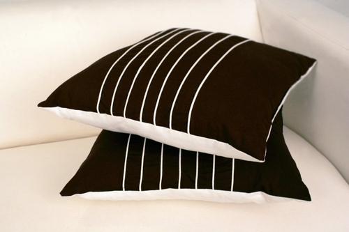Dell Decorative Pillow in Chocolate / Ivory - DELL-DECOR-PILLOW