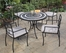Delmar Outdoor Table and 4 Cambria Arm Chairs - Home Styles - 5602-3082