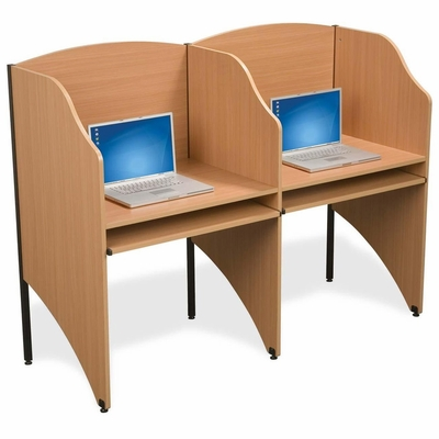 Deluxe Add-A-Carrel - Teak - BLT89869