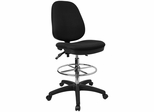 Deluxe Drafting Stool with Black Fabric - KC-B802M1KG-GG