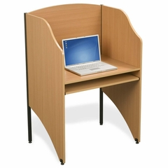 Deluxe Floor Carrel - Teak - BLT89868