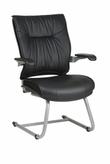 Deluxe Leather Visitors Chair - Office Star - 3905