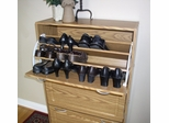 Deluxe Triple Shoe Cabinet in Oak - 4D Concepts - 76153