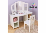 Deluxe Vanity and Chair Set - KidKraft Furniture - 13018