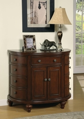 Demilune Accent Cabinet in Walnut - 950005
