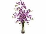 Dendrobium with Vase Silk Flower Arrangement - Nearly Natural - 1190-PP