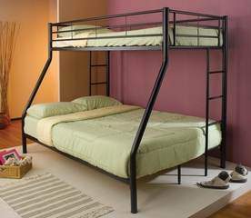 Denley Black Metal Twin Over Full Bunk Bed - 460062B
