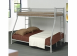 Denley Silver Metal Twin Over Full Bunk Bed - 460062