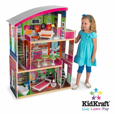 Designer Dollhouse in Multi-Color - KidKraft Furniture - 65156