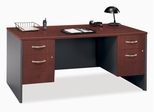 "Desk 66"" and Pedestals Set - Series C Hansen Cherry Collection - Bush Office Furniture - WC24442-90"