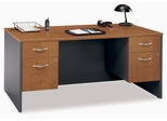 "Desk 66"" and Pedestals Set - Series C Natural Cherry Collection - Bush Office Furniture - WC72442-90"