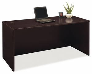 "Desk 66"" - Series C Mocha Cherry Collection - Bush Office Furniture - WC12942"