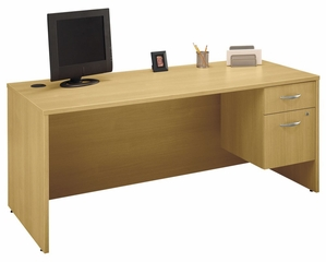 "Desk 72"" and Pedestal Set - Series C Light Oak Collection - Bush Office Furniture - WC60336-90"