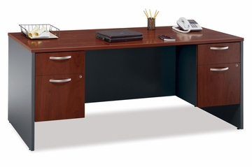 "Desk 72"" and Pedestals Set - Series C Hansen Cherry Collection - Bush Office Furniture - WC24436-90"