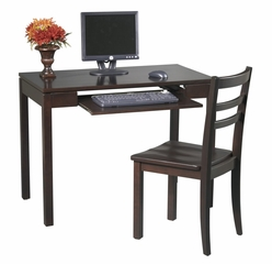 Desk and Chair Set in Espresso - Office Star - ES252W