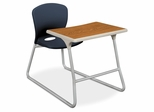 Desk/Chair Combo - Navy Blue chair and Titanium steel frame 2 Count- HONCL71HPBMM91C