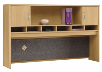 Desk Hutch 72 inch 2 Door - Series C Light Oak Collection - Bush Office Furniture - WC60366