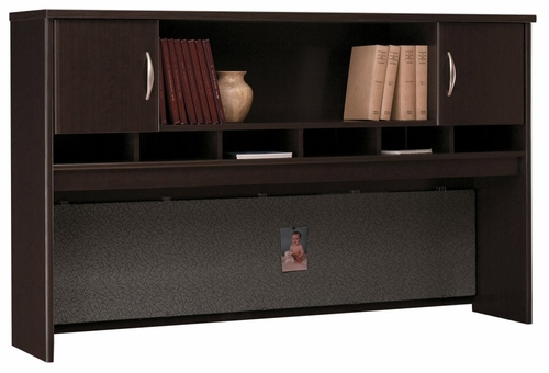 Desk Hutch 72 inch 2 Door - Series C Mocha Cherry Collection - Bush Office Furniture - WC12966