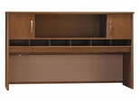 Desk Hutch 72 inch 2 Door - Series C Natural Cherry Collection - Bush Office Furniture - WC72466