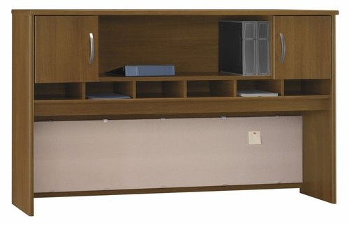 Desk Hutch 72 inch 2 Door - Series C Warm Oak Collection - Bush Office Furniture - WC67566
