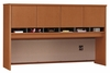 Desk Hutch 72 inch 4 Door - Series C Auburn Maple Collection - Bush Office Furniture - WC48577