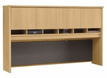 Desk Hutch 72 inch 4 Door - Series C Light Oak Collection - Bush Office Furniture - WC60377