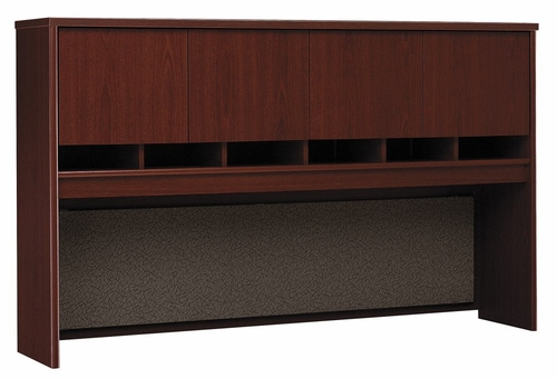 Desk Hutch 72 inch 4 Door - Series C Mahogany Collection - Bush Office Furniture - WC36777