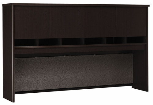 Desk Hutch 72 inch 4 Door - Series C Mocha Cherry Collection - Bush Office Furniture - WC12977