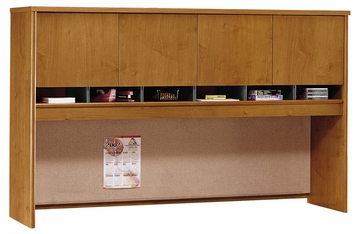 Desk Hutch 72 inch 4 Door - Series C Natural Cherry Collection - Bush Office Furniture - WC72477