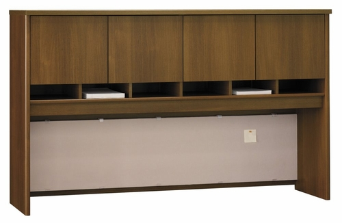 Desk Hutch 72 inch 4 Door - Series C Warm Oak Collection - Bush Office Furniture - WC67577