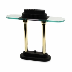 Desk Lamp - Black/Brass Poles - LEDL9074
